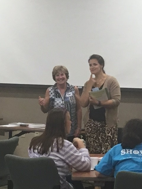 Frances Witt and Pat Clark facilitating Youth Mental First Aid training to educators in Warren County
