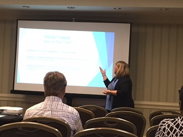Vycki Haught presenting at the Advancing School Mental Health Conference in San Diego