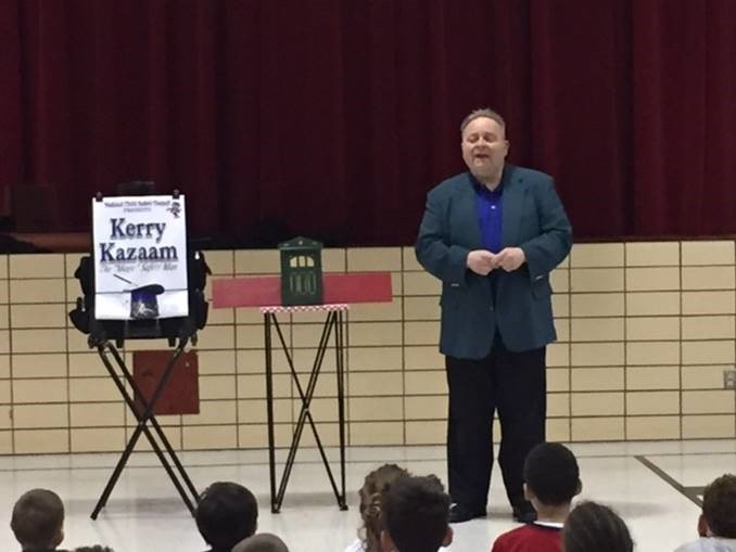 On Friday March 31 Kerry Kazaam the Safety Man visited the students at WCLC Laura Farrell.  In conjunction with the Franklin Police Department, Kerry Kazaam entertains the students with comedy and magic while delivering strong messages of safety.  The students really enjoyed the show and learned some valuable lessons at the same time.